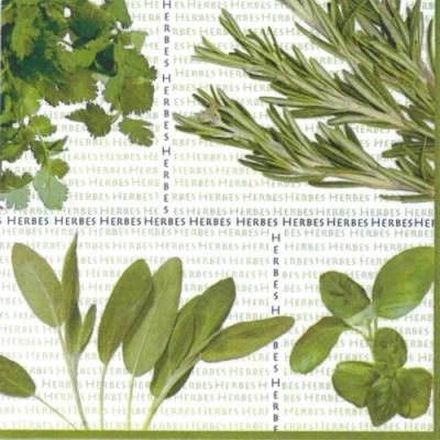 Lunch Servietten Mixed Herbs,  Pflanzen - Küchenkräuter,  Everyday,  lunchservietten