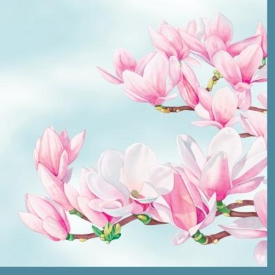 Servietten Frühjahr,  Blumen - Magnolien,  Everyday,  lunchservietten