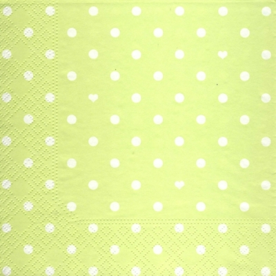 Lunch Servietten Hearts&Dots light green