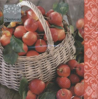 Servietten / Äpfel,  Früchte - Äpfel,  Herbst,  lunchservietten