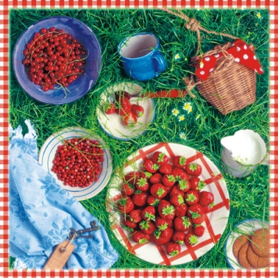 Lunch Servietten Berry Season,  Früchte -  Sonstige,  Essen -  Sonstiges,  Früchte - Erdbeeren,  Everyday,  lunchservietten,  Picknick