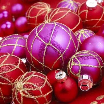 Lunch Servietten Christmas Bauble,  Weihnachten - Baumschmuck,  Weihnachten,  lunchservietten,  Baumkugeln