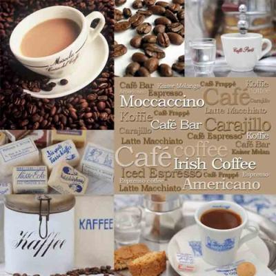 Servietten / Porzellanmotive,  Sonstiges - Porzellanmotive,  Getränke Kaffee / Tee,  Everyday,  lunchservietten,  Kaffeetasse
