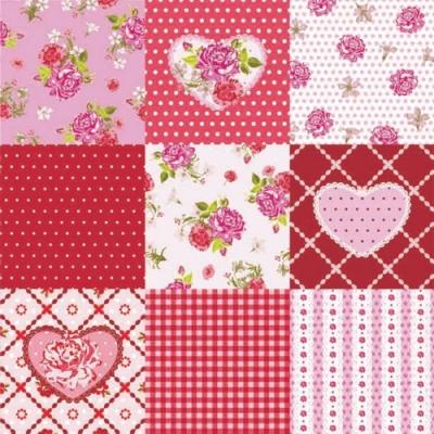 Servietten Blumenmotive,  Blumen - Rosen,  Everyday,  lunchservietten,  Rosen,  Herz