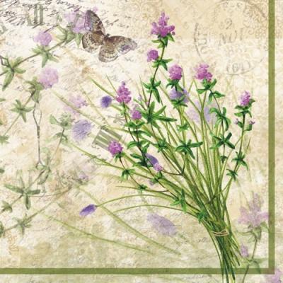 Lunch Servietten Bouquet Garnis,  Tiere - Schmetterlinge,  Blumen -  Sonstige,  Everyday,  lunchservietten,  Blumen,  Schmetterlinge