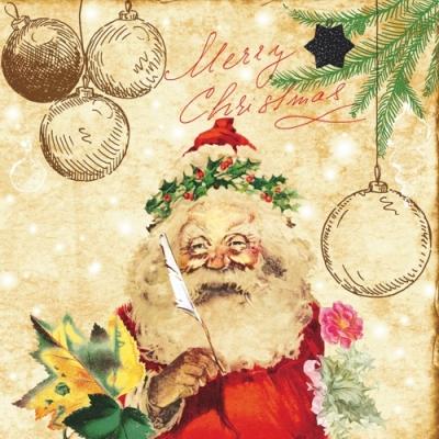 Nouveau Horeca,  Weihnachten - Baumschmuck,  Weihnachten - Weihnachtsmann,  Weihnachten,  lunchservietten,  Baumkugeln,  Weihnachtsmann,  Schriften
