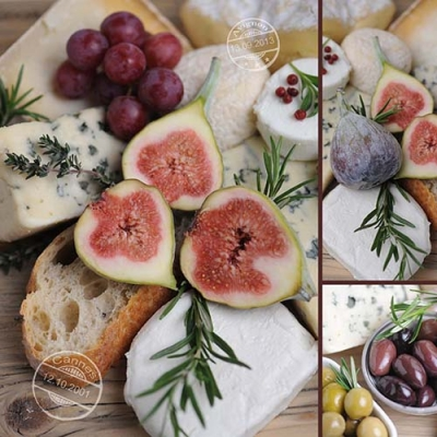 Servietten / Käse,  Früchte - Oliven,  Essen - Käse,  Früchte - Weintrauben,  Everyday,  lunchservietten,  Oliven,  Käse,  Weintrauben,  Feigen
