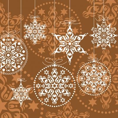 Servietten 33 x 33 cm,  Weihnachten - Baumschmuck,  Weihnachten,  lunchservietten,  Baumkugeln
