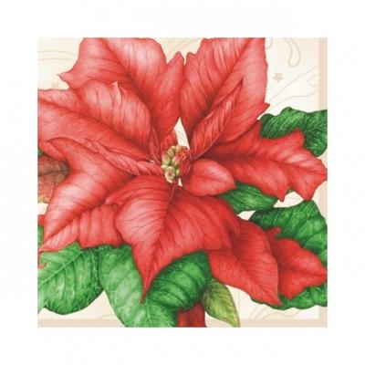 Servietten 25 x 25 cm,  Weihnachten - Weihnachtsstern,  Weihnachten,  cocktail servietten