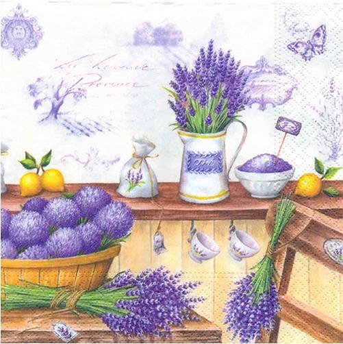 Cocktail Servietten Lavendula,  Blumen -  Sonstige,  Blumen - Lavendel,  Blumen,  Everyday,  cocktail servietten