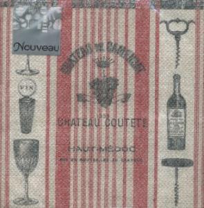 Cocktail Servietten Vin Rouge