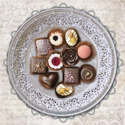 Lunch Servietten Chocolate Party,  Essen - Pralinen / Schokolade,  Everyday,  lunchservietten,  Pralinen