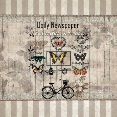 Servietten nach Jahreszeiten,  Sonstiges - Schriften,  Tiere - Schmetterlinge,  Everyday,  lunchservietten,  Fahrrad,  Schmetterlinge,  Blumen,  Schriften