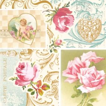 Cocktail Servietten ROSES OF LOVE,  Blumen -  Sonstige,  Blumen - Rosen,  Blumen,  Everyday,  cocktail servietten