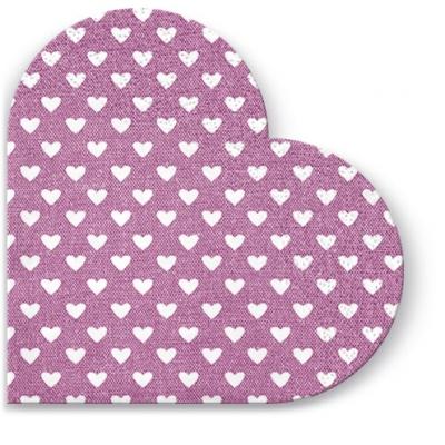 Servietten - Rund Hearts (pink) , servietten,  Herzen