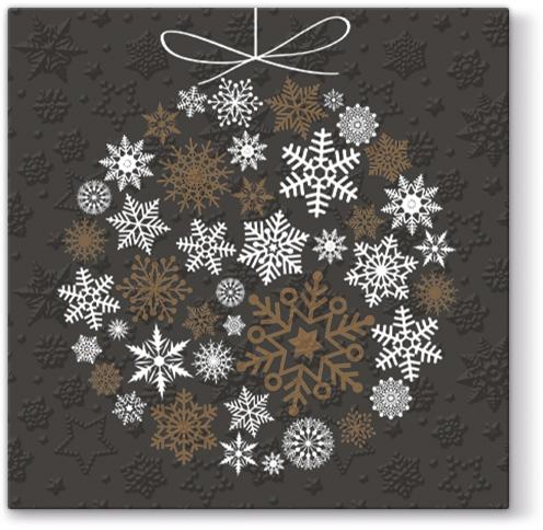 Lunch Servietten Inspiration Winter Flakes Frozen Baubles (copper)