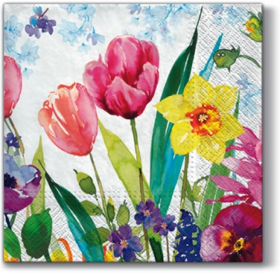 Servietten,  Blumen - Tulpen,  Everyday,  lunchservietten,  Tulpen