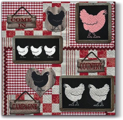 Everyday,  Tiere - Vögel,  Everyday,  lunchservietten,  Hühner