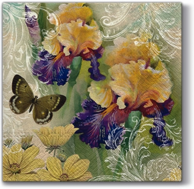 Lunch Servietten Magic Spring,  Tiere - Schmetterlinge,  Blumen -  Sonstige,  Everyday,  lunchservietten,  Blumen,  Schmetterlinge