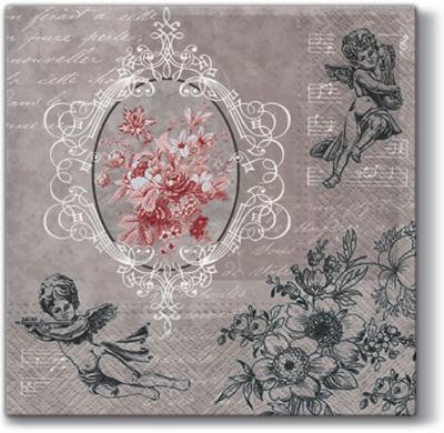 Lunch Servietten Angels among Flowers ,  Sonstiges - Musik,  Weihnachten - Engel,  Everyday,  lunchservietten,  Engel,  Musik