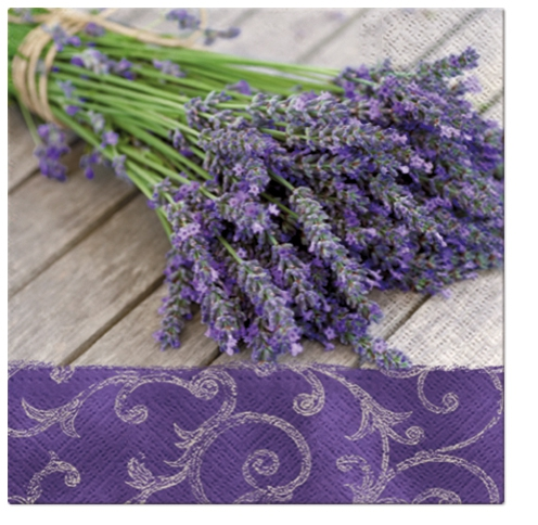 Lunch Servietten LAVENDER IN THE COUNTRY,  Blumen - Lavendel,  Everyday,  lunchservietten
