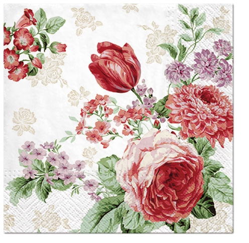 Lunch napkins Mysterious Roses