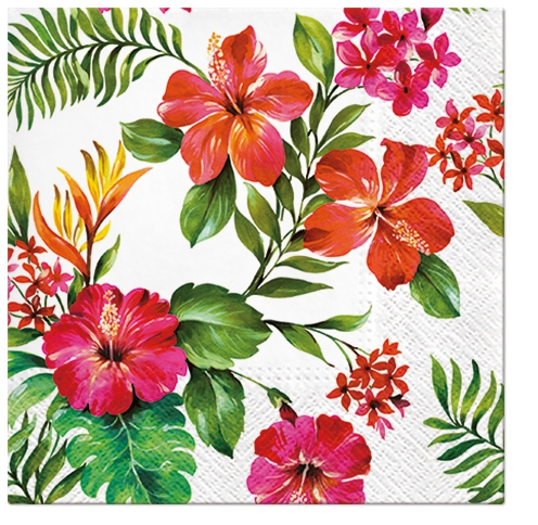 Serviettes lunch Hawaiian Flowers