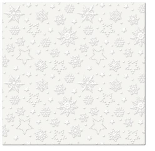 Lunch Servietten Inspiration Winter Flakes (pearl)