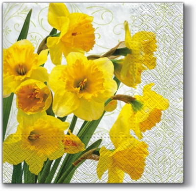 Lunch Servietten YELLOW DAFFODILS,  Blumen - Osterglocken,  Blumen,  Everyday,  lunchservietten,  Blumen,  Muster