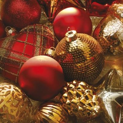 Lunch Servietten Xmass Baubles,  Weihnachten - Baumschmuck,  Weihnachten,  lunchservietten,  Baumkugeln