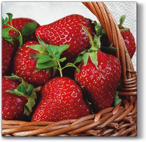 Motivservietten Gesamtübersicht,  Früchte - Erdbeeren,  Everyday,  lunchservietten,  Erdbeeren