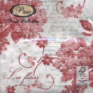 Lunch Servietten Linen Roses red,  Blumen - Rosen,  lunchservietten,  Rosen