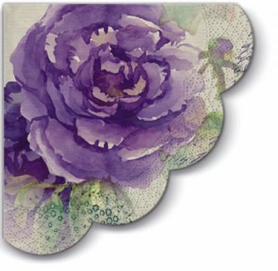 Servietten - Rund Miracle  Rose, servietten,  Rosen