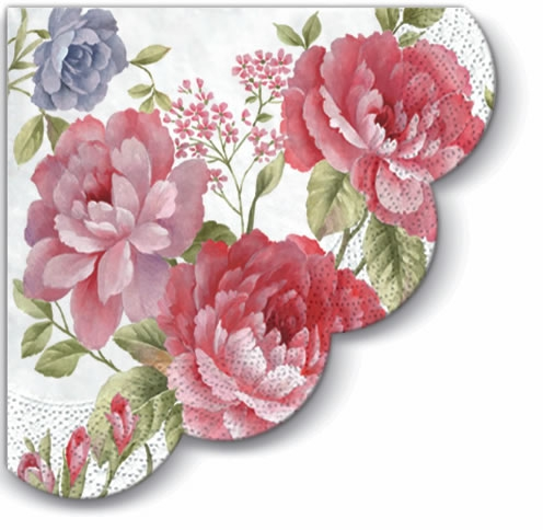 Servietten nach Jahreszeiten, servietten,  Rosen