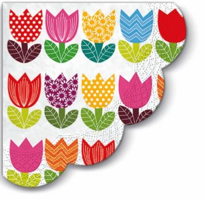 Servietten - Rund Funny Tulips , servietten,  Tulpen