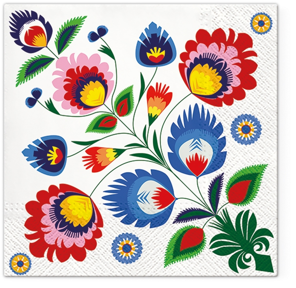 Lunch Servietten Popular Pattern,  Blumen -  Sonstige,  Everyday,  lunchservietten,  Muster,  Ornamente,  Blumen