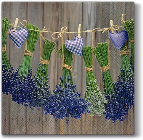 Lunch Servietten ,  Blumen - Lavendel,  Everyday,  lunchservietten,  Lavendel