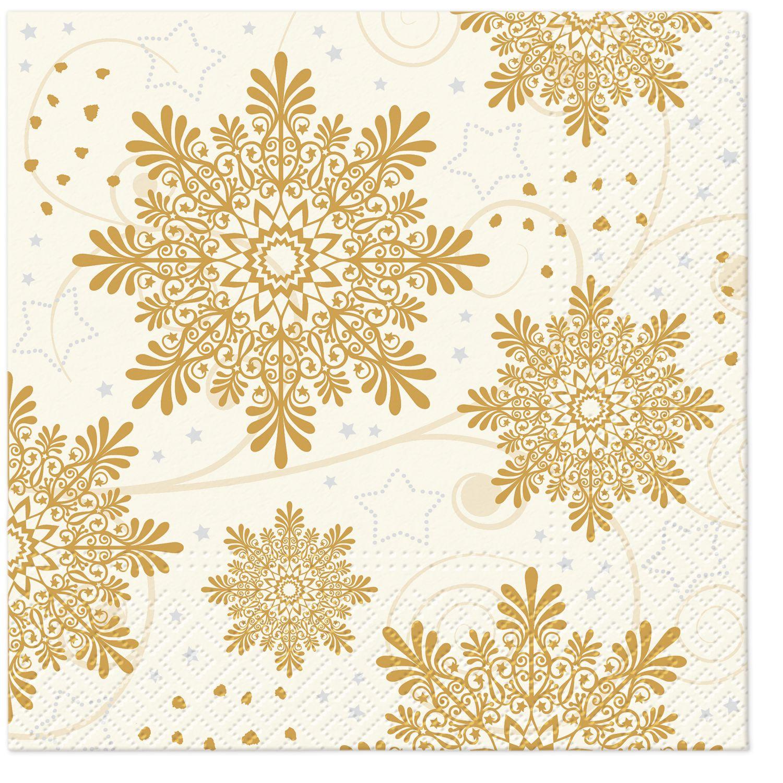 Lunch Servietten Snowflakes Cream