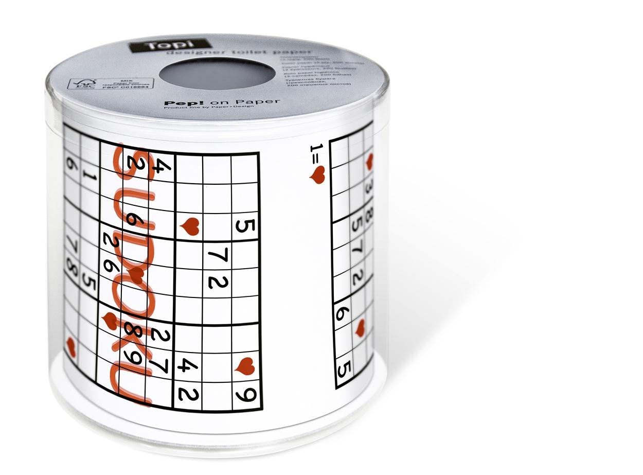 Toilettenpapier Sudoku,  Everyday,  bedrucktes Toilettenpapier,  Spiele,  Sudoku