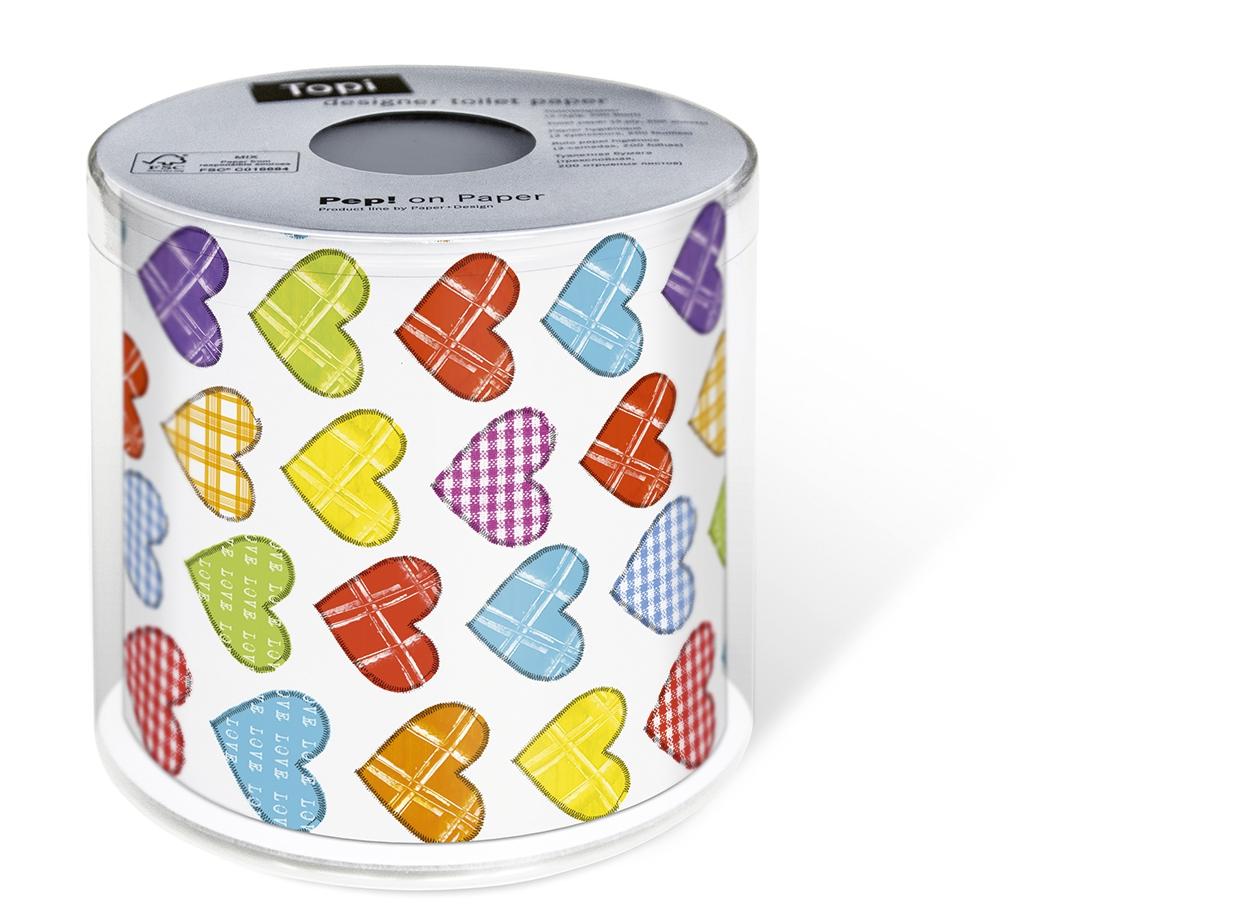 Toilettenpapier Topi Colourful hearts,  Everyday,  Everyday,  bedrucktes Toilettenpapier