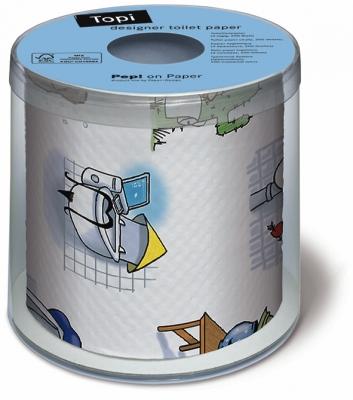 Toilettenpapier Topi WC world,  Everyday,  bedrucktes Toilettenpapier