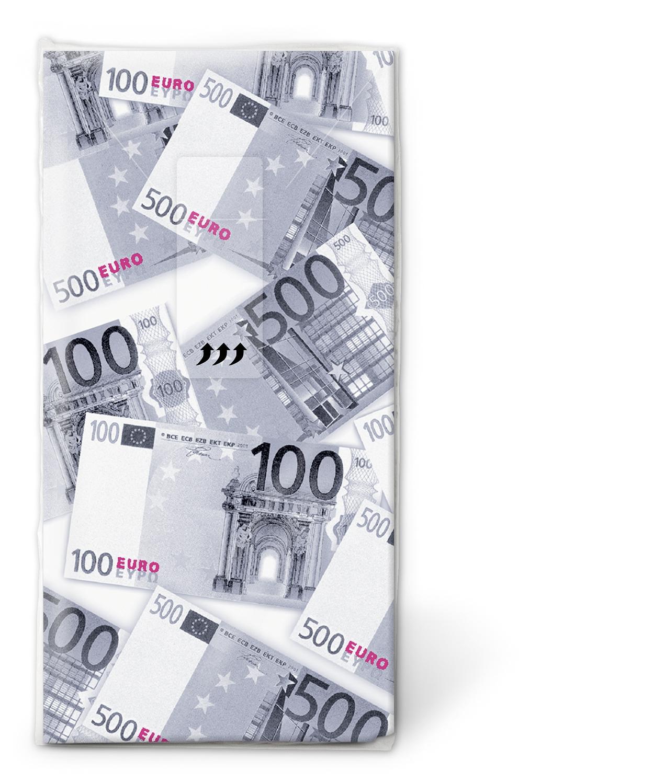 Taschentücher Euro,  Sonstiges,  Everyday,  bedruckte papiertaschentücher,  Euros