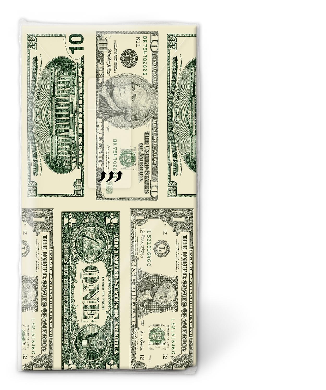 10 bedruckte Taschentücher Dollar,  Sonstiges,  Everyday,  bedruckte papiertaschentücher,  Dollar