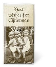 10 bedruckte Taschentücher Best wishes,  Weihnachten,  bedruckte papiertaschentücher