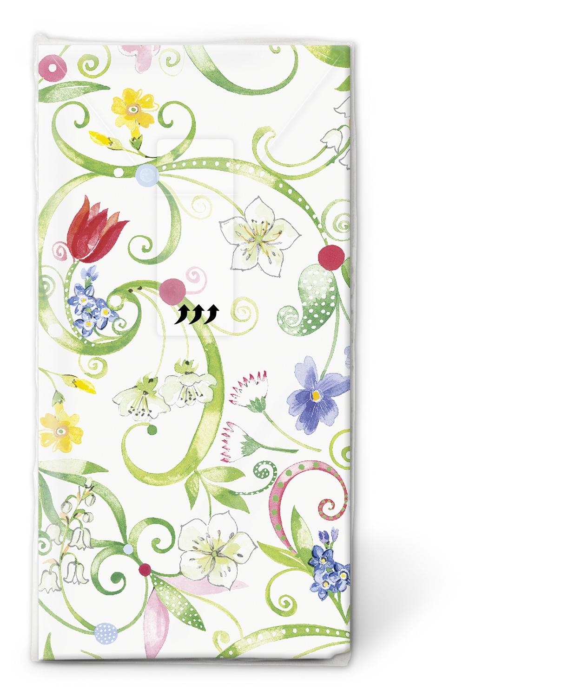 10 bedruckte Taschentücher Floral pattern,  Blumen,  Everyday,  bedruckte papiertaschentücher,  Blumen Muster