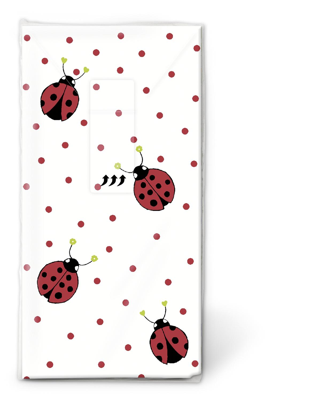 10 bedruckte Taschentücher Ladybirds and dots,  Tiere,  Everyday,  bedruckte papiertaschentücher,  Marienkäfer