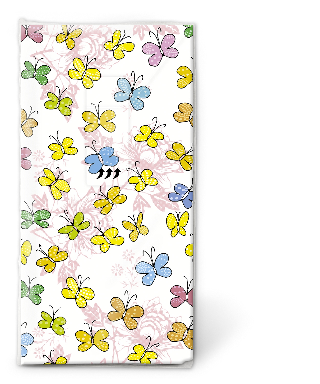 Taschentücher Colourful papillons,  Tiere,  Everyday,  bedruckte papiertaschentücher