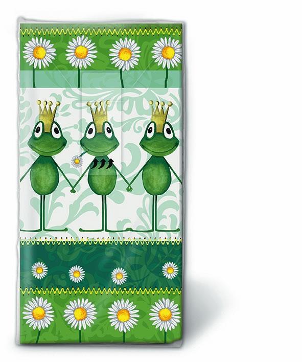 10 bedruckte Taschentücher Royal family,  Blumen,  Tiere,  Everyday,  bedruckte papiertaschentücher,  Frösche,  Gänseblümchen