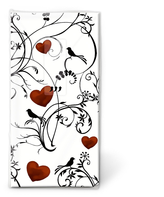Taschentücher Ornament with hearts,  Tiere,  Everyday,  bedruckte papiertaschentücher
