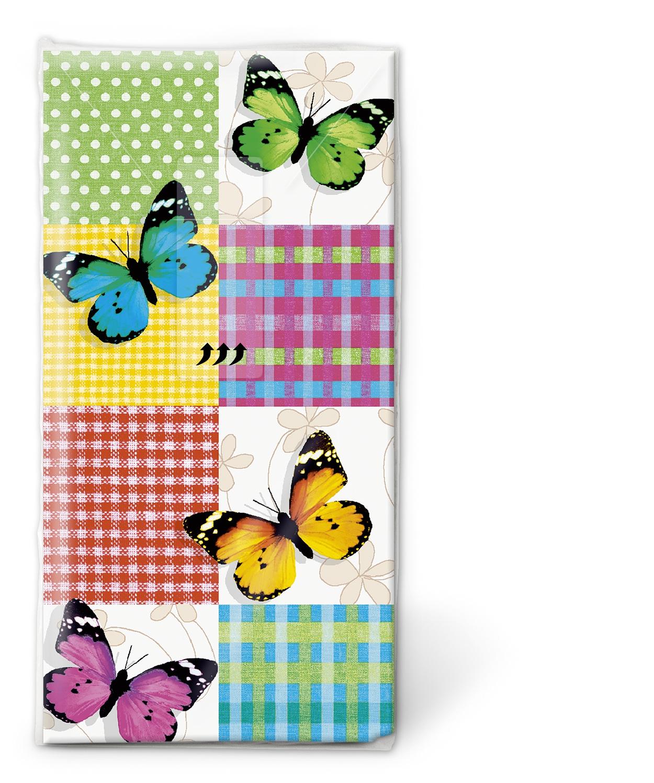 Taschentücher TT Butterflies & squares,  Tiere,  Everyday,  bedruckte papiertaschentücher,  Schmetterlinge